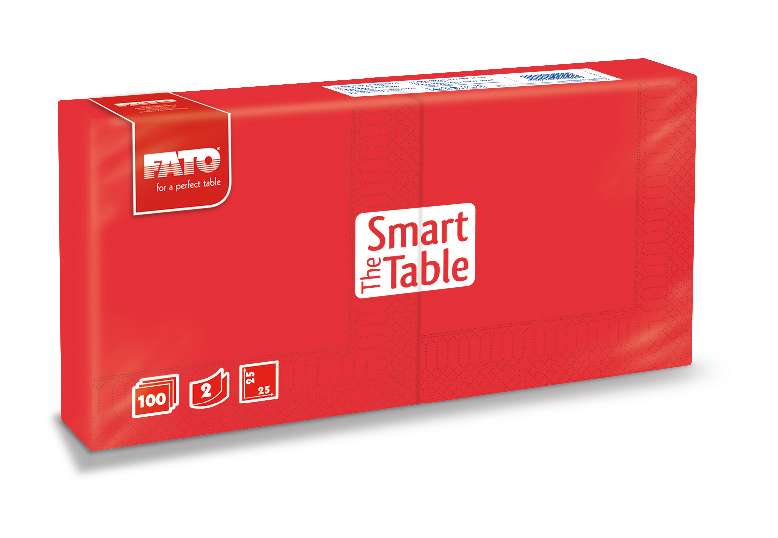 Ubrousky The Smart Table, 25x25cm, 2vr., Červené - 3800 ks