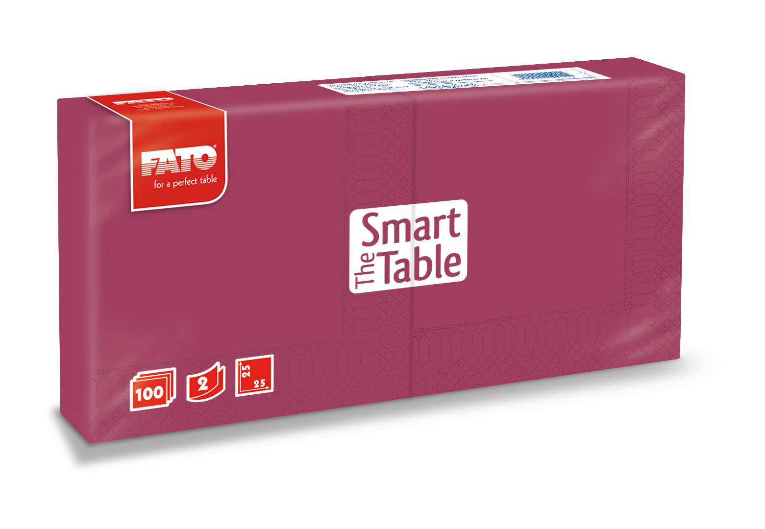 Ubrousky The Smart Table, 25x25cm, 2vr., Bordó - 3800 ks