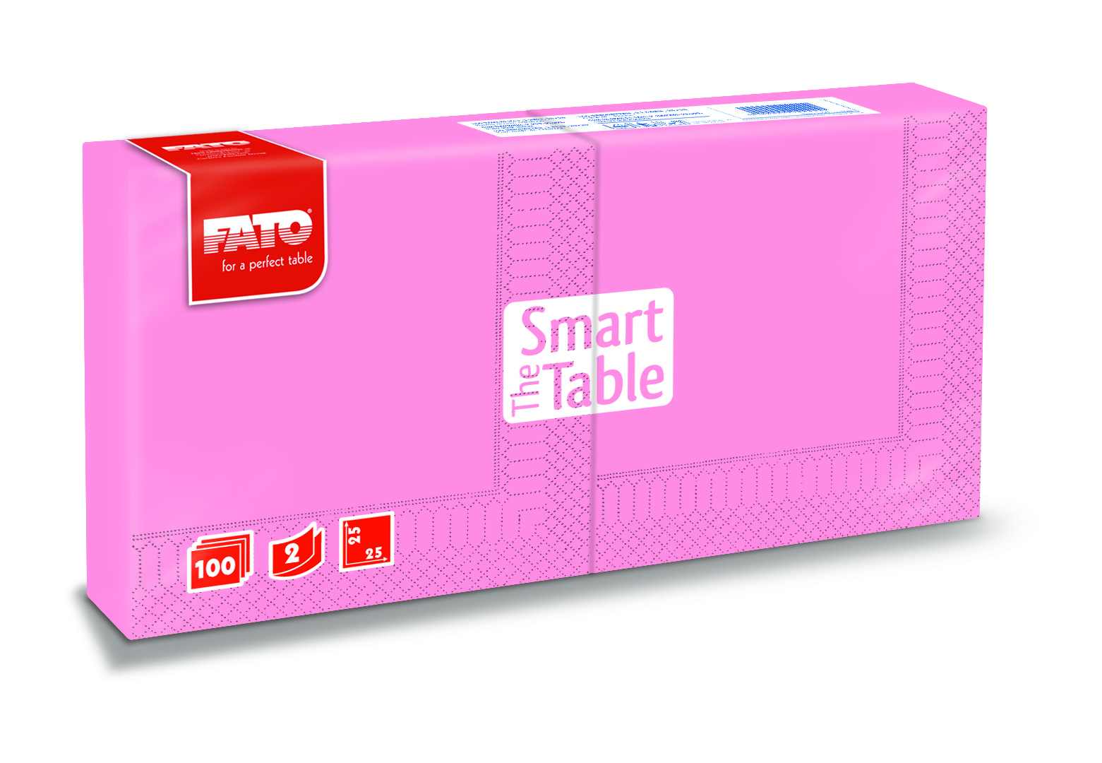 Ubrousky The Smart Table, 25x25cm, 2vr., Růžové - 3800 ks