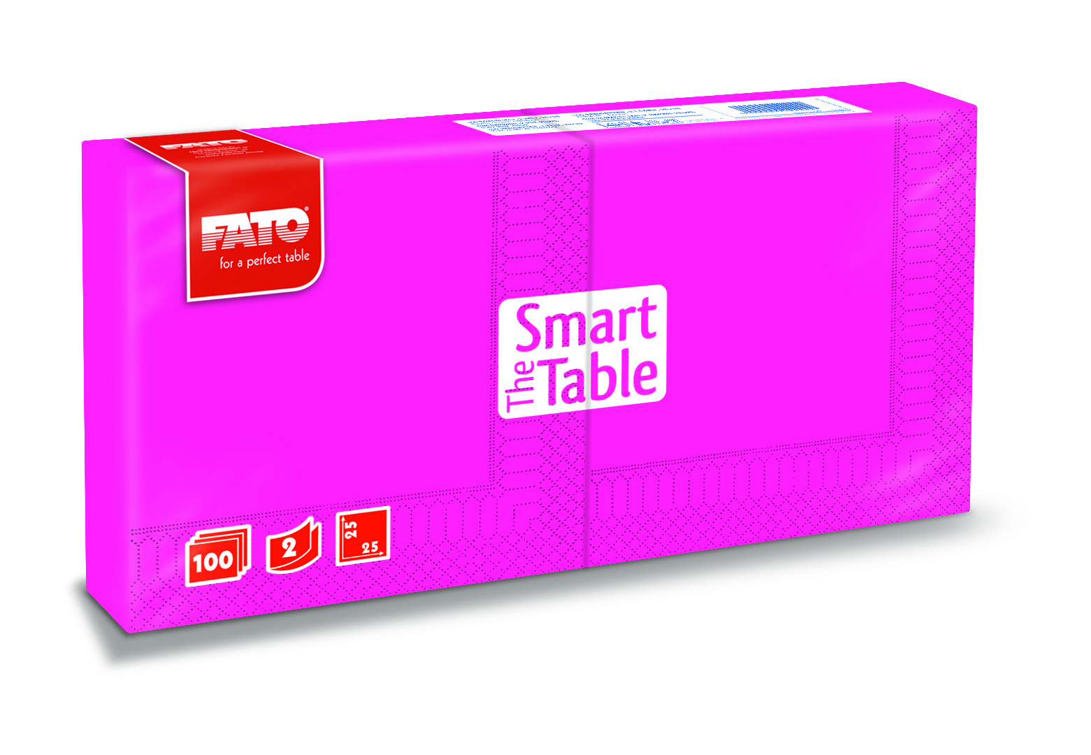 Ubrousky The Smart Table, 25x25cm, 2vr., Fuchsia - 3800 ks