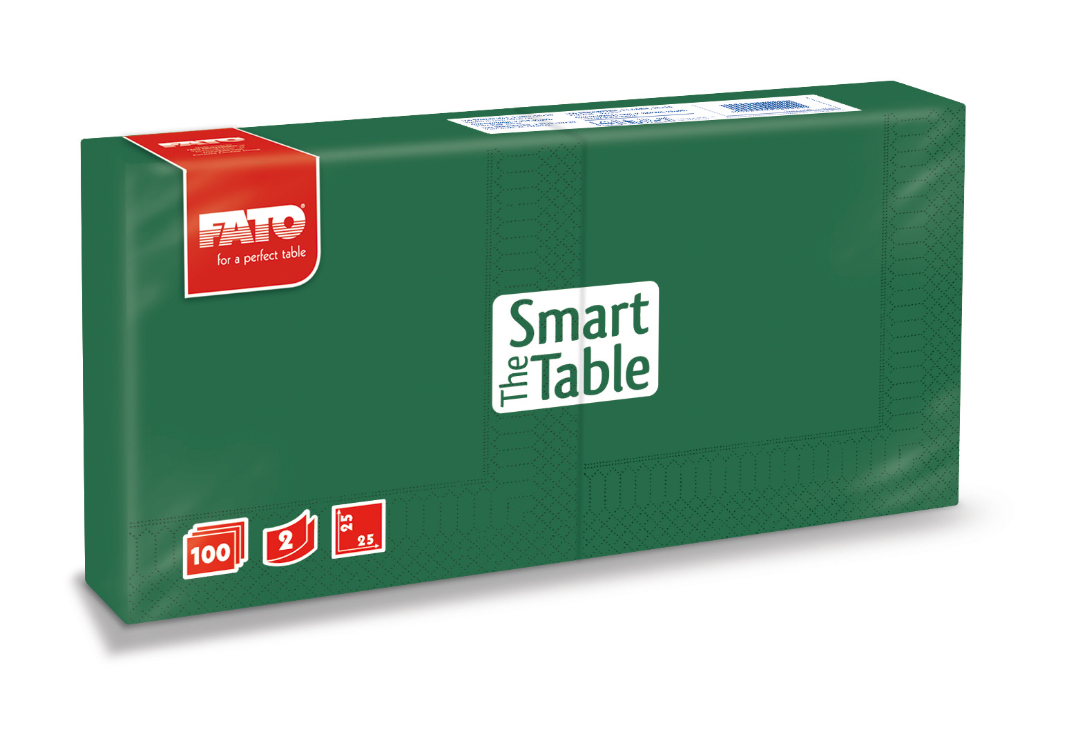 Ubrousky The Smart Table, 25x25cm, 2vr., Tm. Zelené - 3800 ks