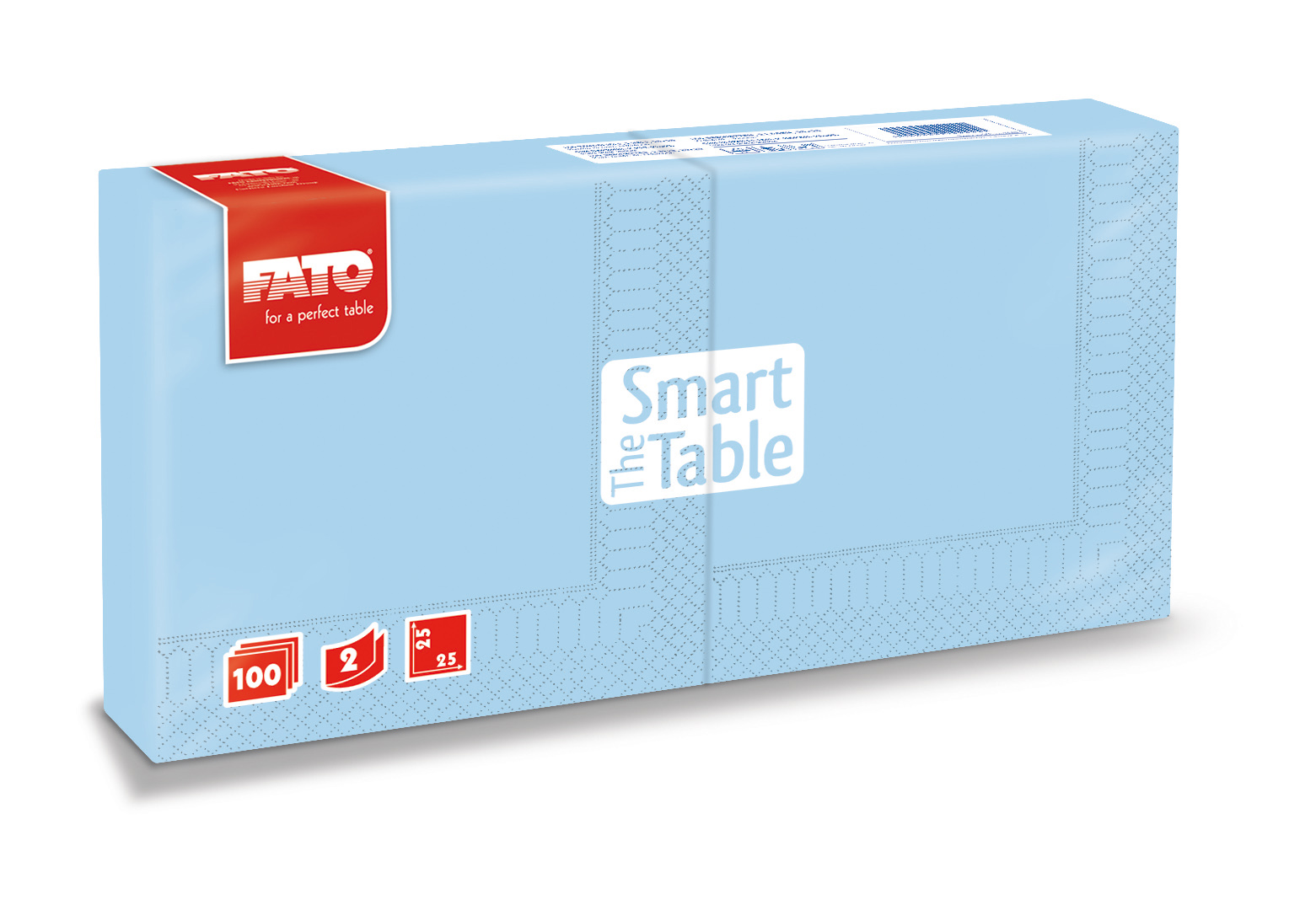 Ubrousky The Smart Table, 25x25cm, 2vr., Azurové - 3800 ks