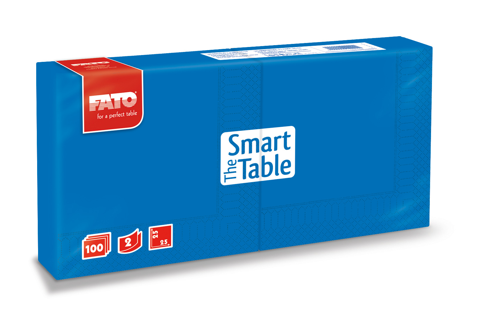 Ubrousky The Smart Table, 25x25cm, 2vr., Modré - 3800 ks