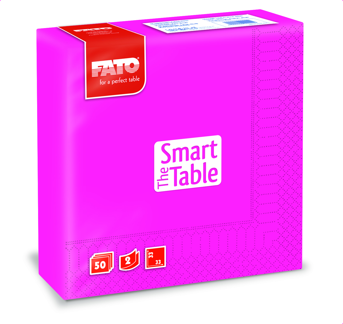 Ubrousky The Smart Table, 33x33cm, 2vr., Fuchsia - 1200 ks