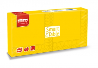 Ubrousky The Smart Table, 25x25cm, 2vr., Žluté - 3800 ks