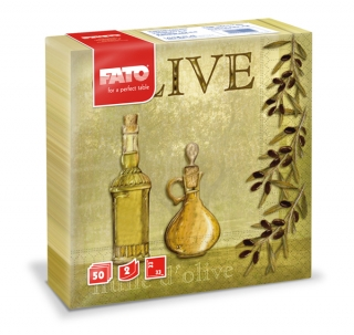 Ubrousky The Smart Table, 33x33cm, Olive oil - 1350 ks